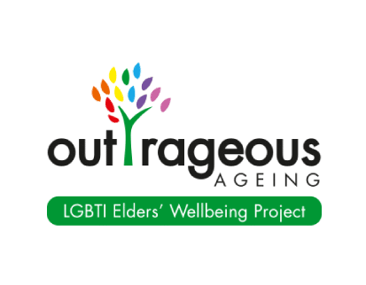 Evergreen Outrageous Ageing LGBTI Elders Wellbeing Project Logo
