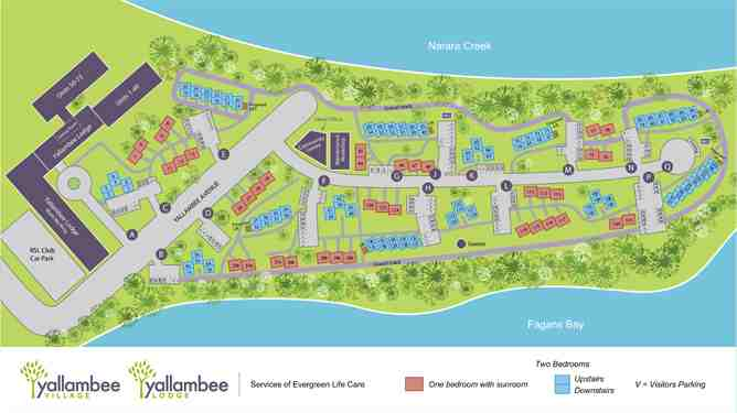 Evergreen Village Sitemap